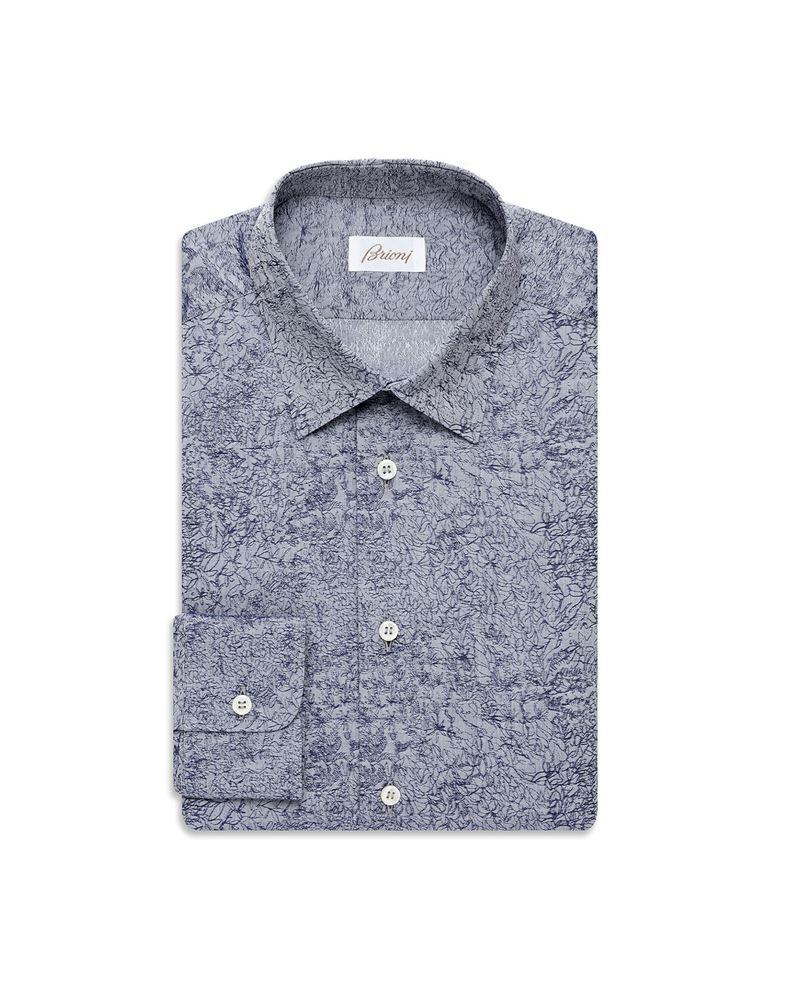 Picture of Brioni - Bluette micro-designed shirt