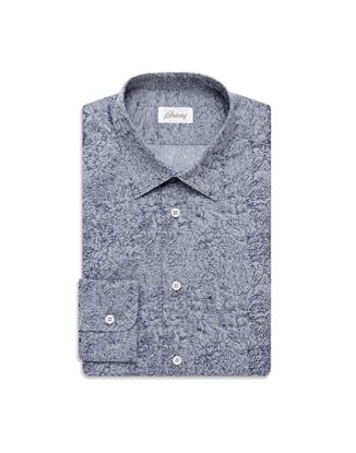 Picture of Brioni - Bluette micro-designed shirt