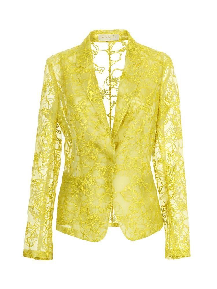 圖片 Mantu - 黃色蕾絲西裝外套