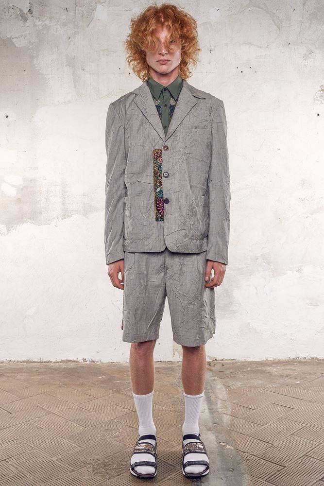 图片 Antonio Marras - 绉布拼刺绣图案外套