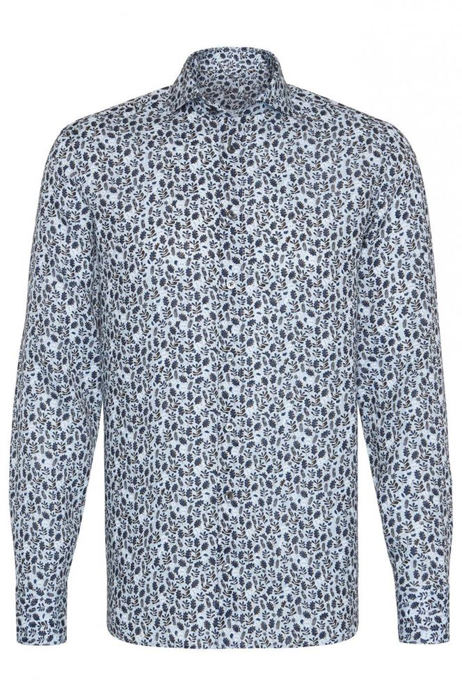 Picture of Van Laack - Blue printed casual shirt