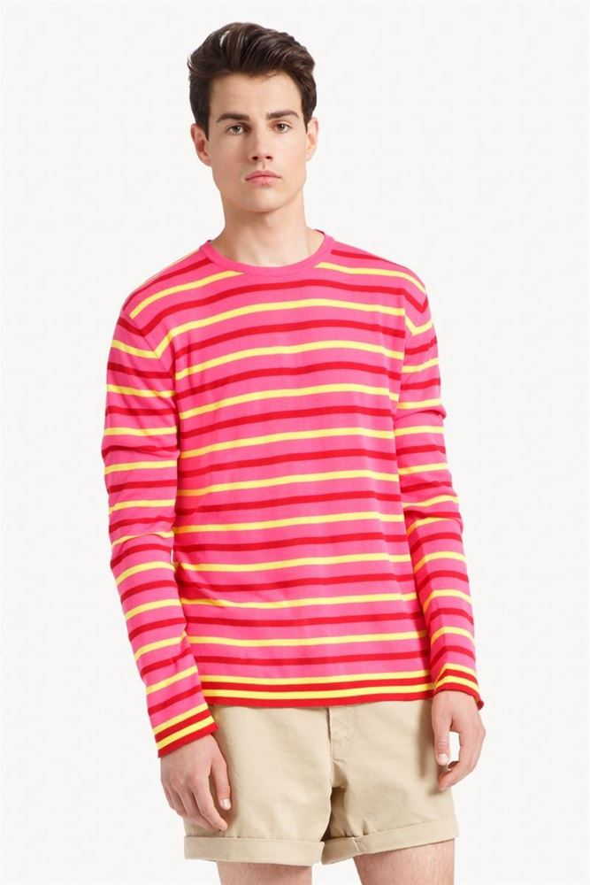 de223ab2e43d The Swank. Ermanno Scervino - 黄红色条纹针织上衣