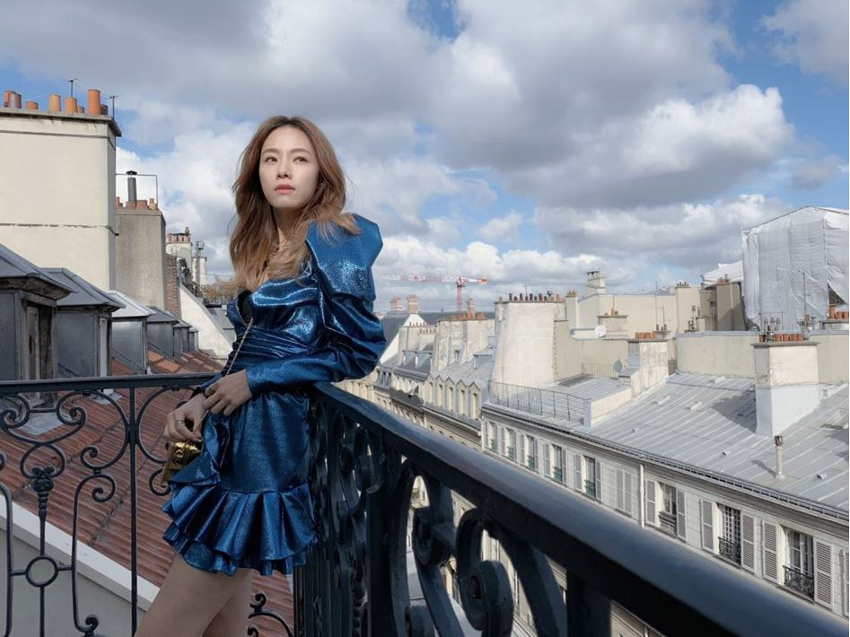 Stephy Tang visited Serge Cajfinger, the founder of Paule Ka at the Paris showroom
