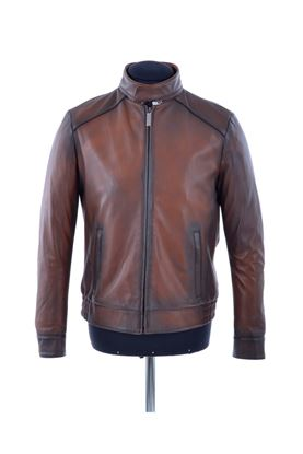 Picture of Hettabretz - Brown leather jacket