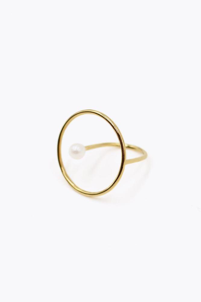 圖片 De La Forge - White pearl aphrodite ring with gold plated 18k