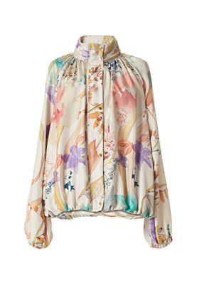 Picture of Agnona - Silk floral jacket