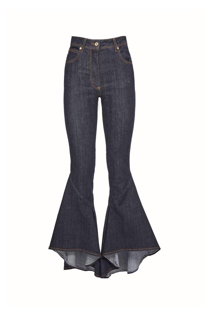 Picture of Blumarine - Flared denim jeans