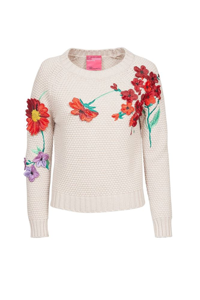 Picture of Blumarine - Floral embroidered sweater