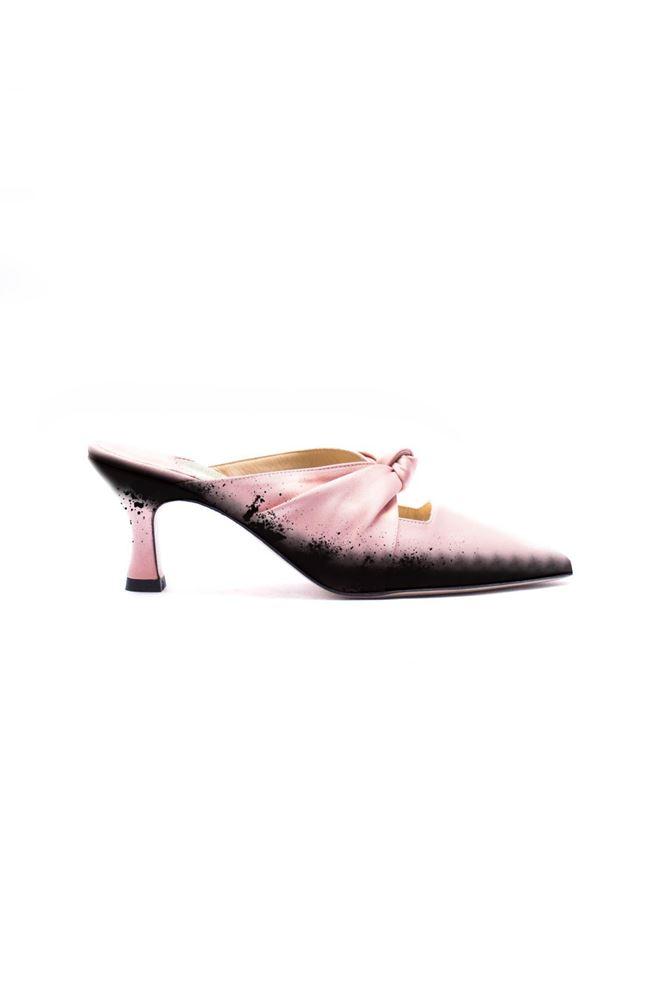 图片 Eugene Riconneaus - Pink pointed heels with spray details