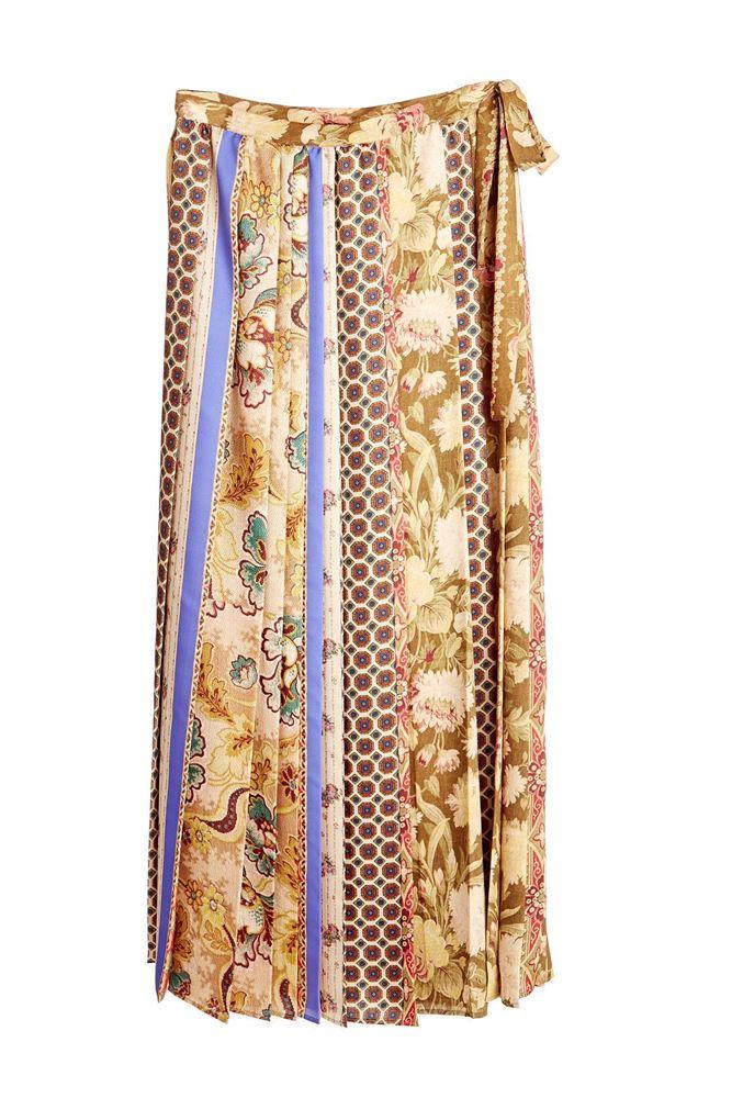 图片 Pierre-Louis Mascia -  Floral & Geometric Stripes Print Dress