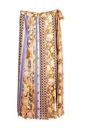 Picture of Pierre-Louis Mascia -  Floral & Geometric Stripes Print Dress