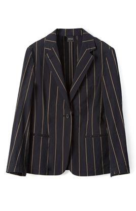 圖片 Aspesi - One button Contrast Striped Blazer