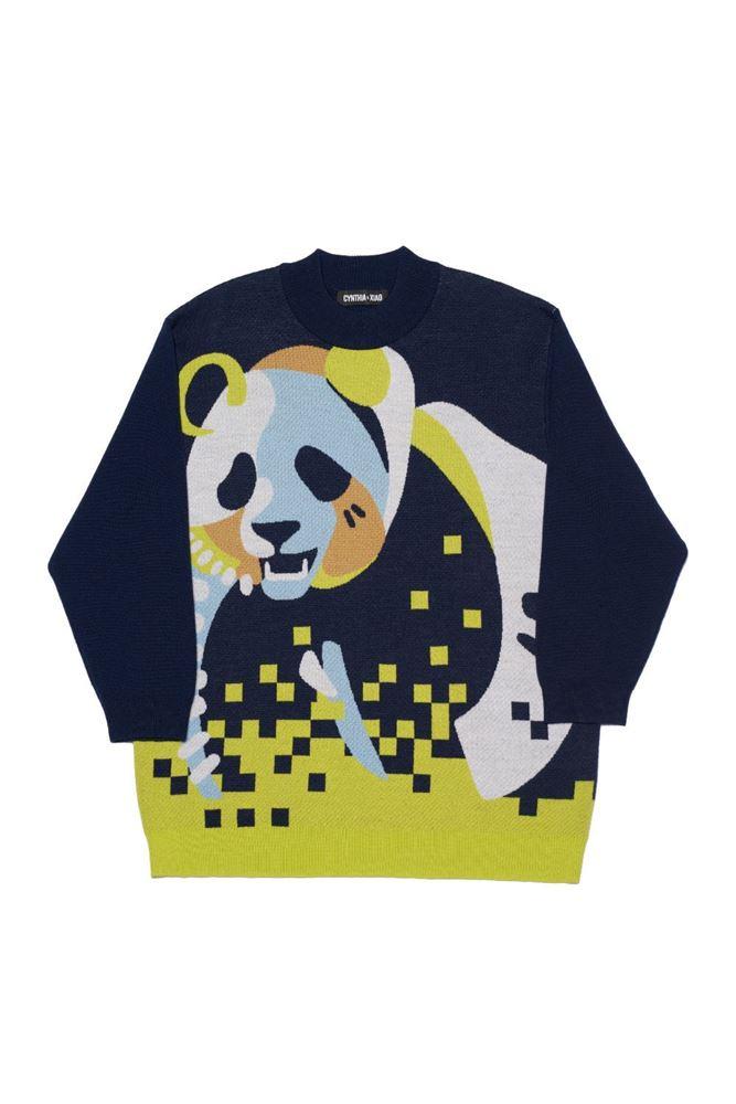 图片 Cynthia & Xiao - Oversize Panda Print Sweater