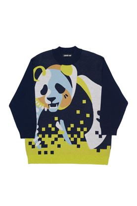 圖片 Cynthia & Xiao - Oversize Panda Print Sweater