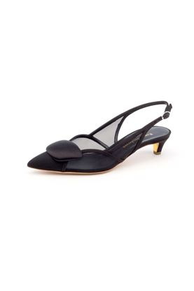 图片 Rupert Sanderson - Sling Back Mix Fabric Pointed Heels
