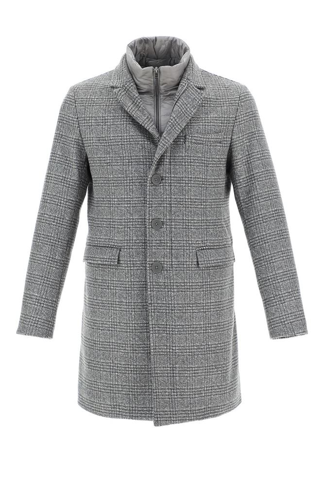 圖片 Herno - Padded Checked Coat