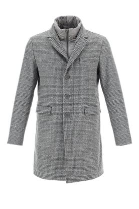 Picture of Herno - Padded Checked Coat