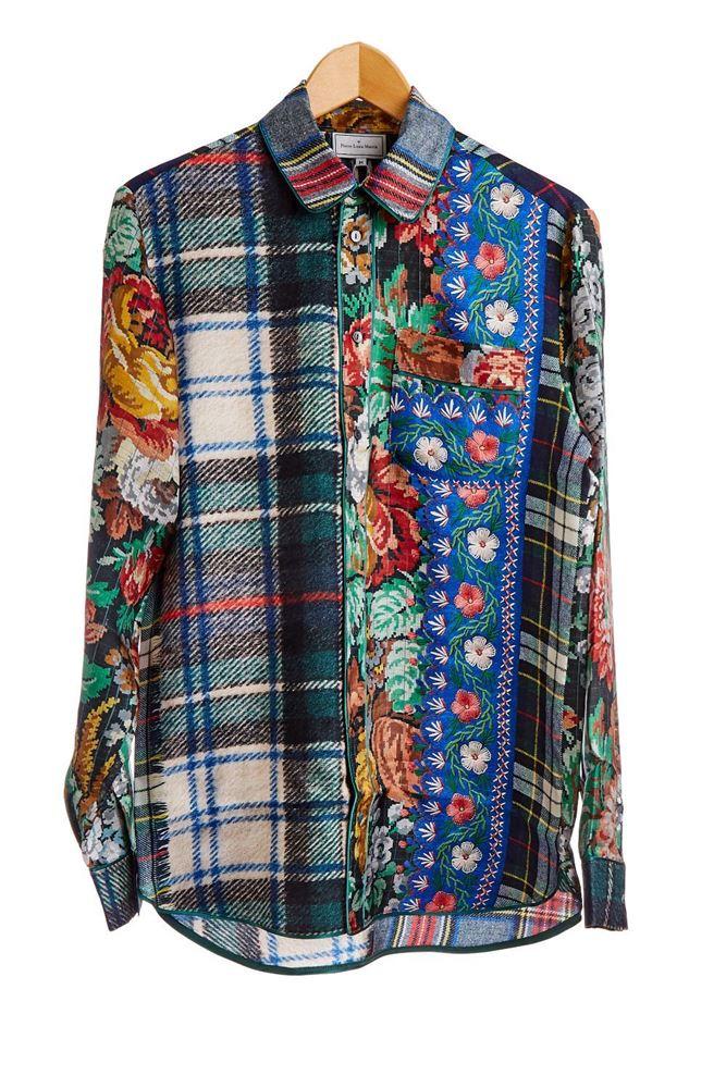 图片 Pierre-Louis Mascia - Patchwork Style Shirt