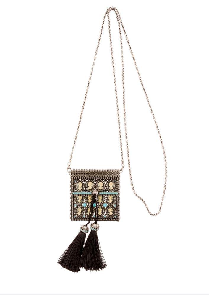 图片 Ermanno Scervino -Crystal & Stone Embroidery Mini Bag
