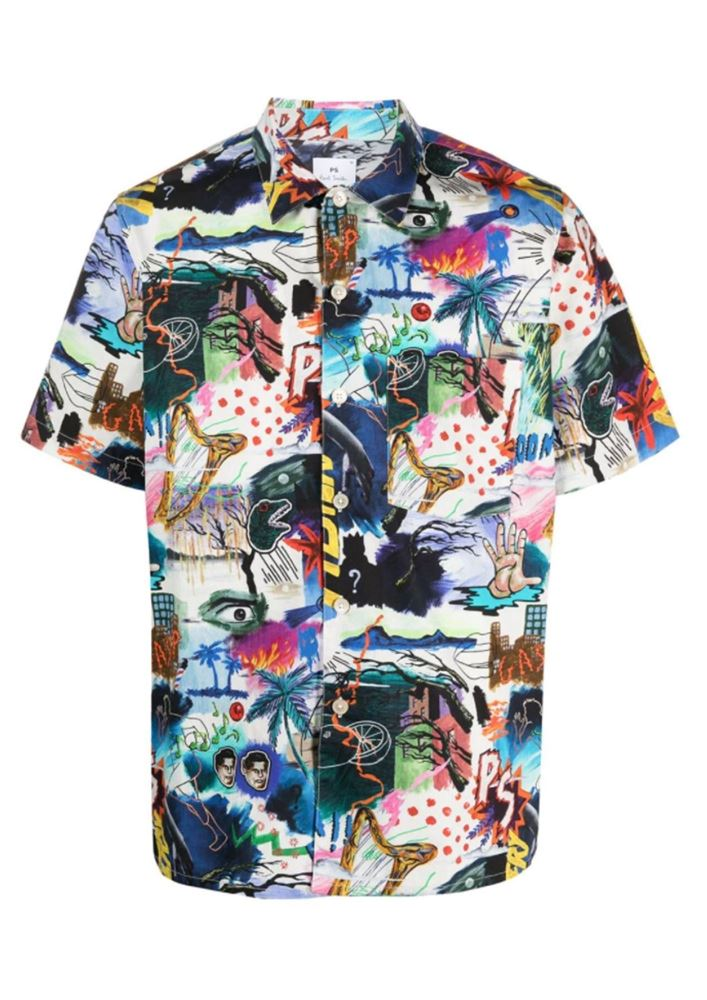 Picture of PS Paul Smith - Pulp-print Organic Cotton Shirt