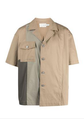 图片 Feng Chen Wang - Panelled Short-sleeved Shirt