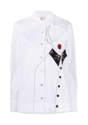 图片 Antonio Marras - Embroidered Button-down Shirt
