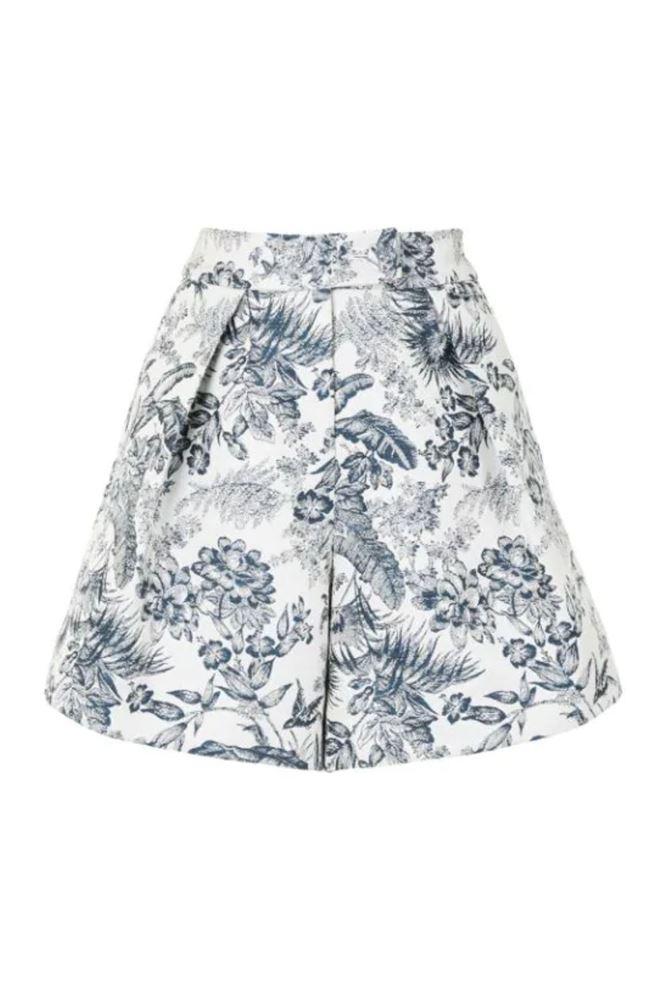 图片 Erdem - Floral Print Tailored Shorts