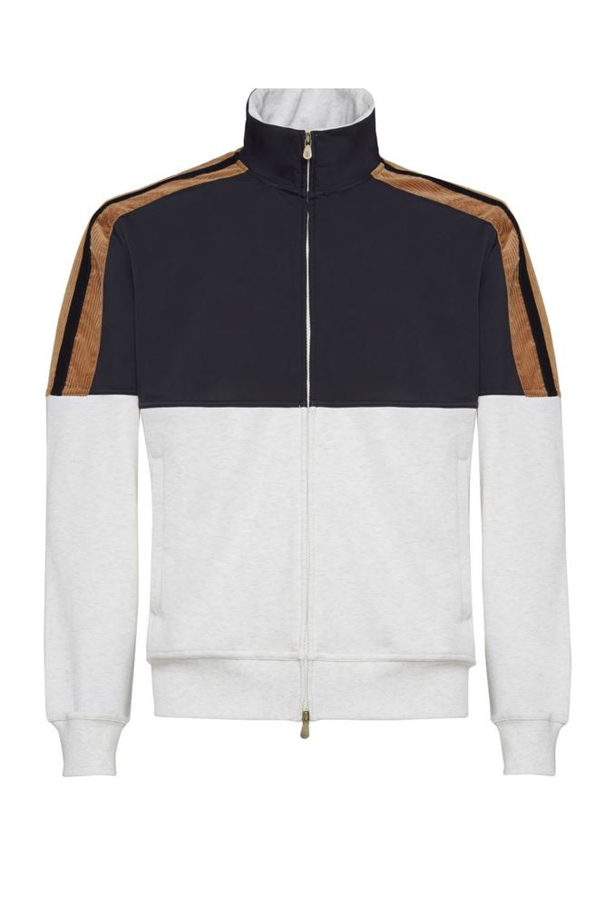 Picture of Brunello Cucinelli - Zip-up Sports Jacket