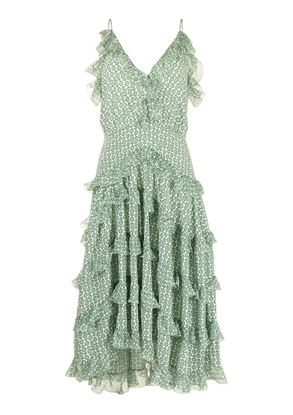 Picture of Ermanno Scervino - Paisley Print Ruffled Tiered Dress