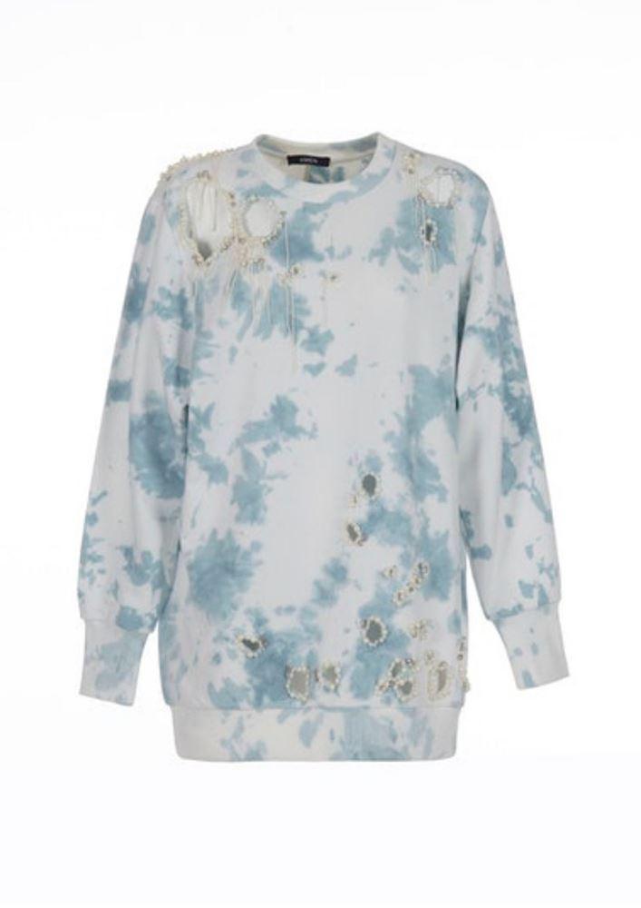 图片 Amen - Lace Tie Dye Oversize Sweater