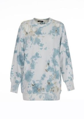 Picture of Amen - Lace Tie Dye Oversize Sweater