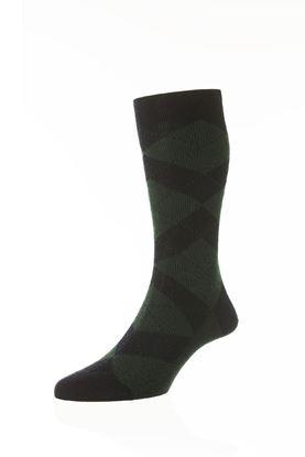 Picture of Diamond Abdale Argyle Rib Socks- Short