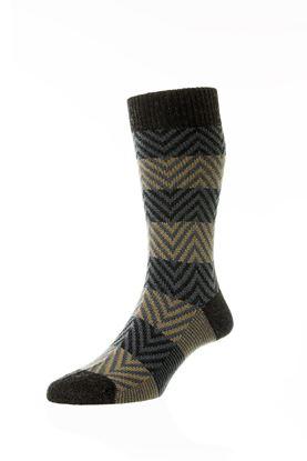 Picture of Hartwell Herringbone Stripe Socks -Short