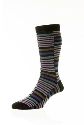 Picture of Brockley Broken Stripe Socks-Short