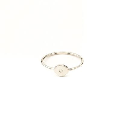 Picture of Small Heptagon Diamond Ring