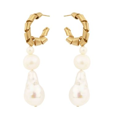 Picture of C Twisted Freshwater Pearls Chole Drop Earrings