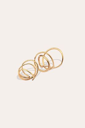Picture of Gold Vermeil Wraps Set Rings
