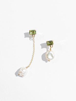 Picture of Asym Bronze Gemdrop Earrings
