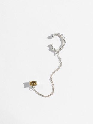 Picture of Amethyst Gem Stud Chain Ear Cuff
