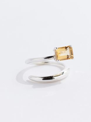 Picture of Citrine Gem Sterling Silver Ring