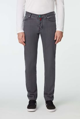 Picture of Grey Cotton Blend Jeans