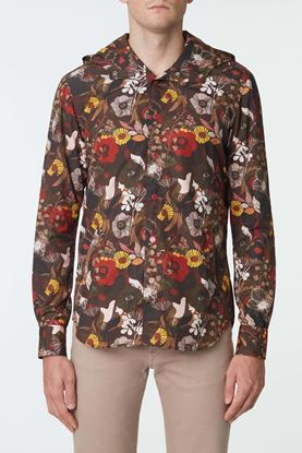 Picture of Multicolour Floral Print Hood Jacket