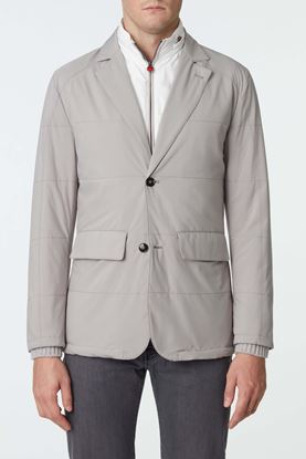Picture of Grey Quilted Detachable Jacket