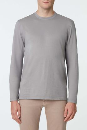 Picture of Grey Cotton Cashmere Blend Sweater