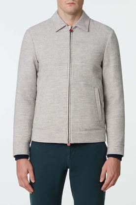 Picture of Grey Zip Up Cashmere Jacket