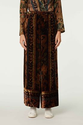 Picture of Brown Floral and Leopard Print Pants