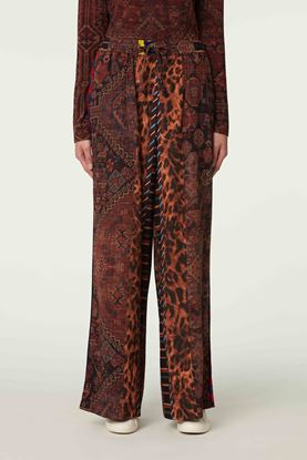 Picture of Multicolour Geometric and Leopard Print Pants