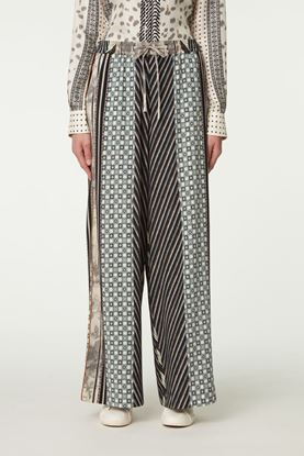 Picture of Multicolour Patchwork Print Pants
