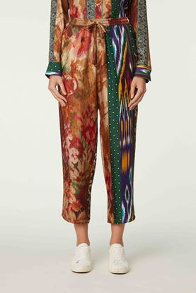 Picture of Multicolour Floral and Ethnic Print Pants