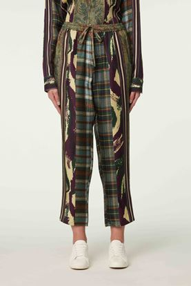 Picture of Multicolour Check and Ethnic Print Pants